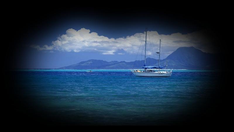 Mavi Deniz Ve Gemi